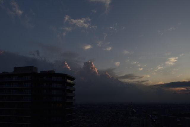 積乱雲が綺麗です、AF-S Nikkor 24mm f/1.4G EDで撮影