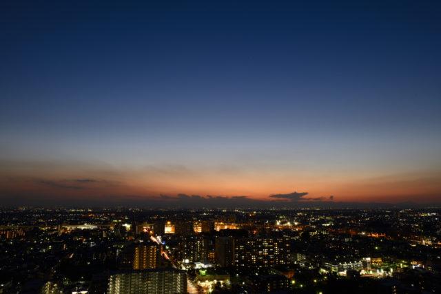 Niko、D850、AF-S Nikkor 24mm f/1.4G EDで撮影、夕暮れ