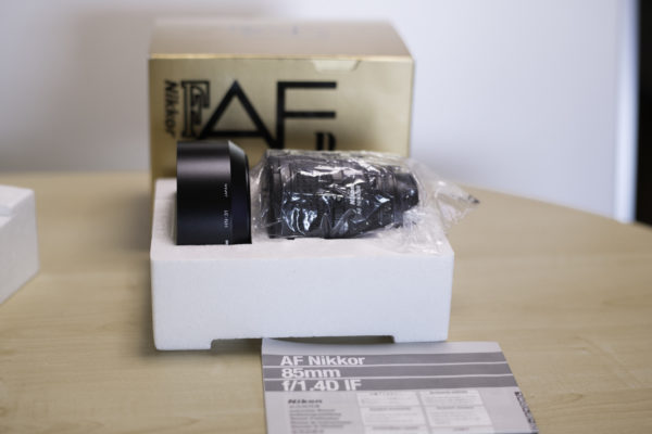 Ai AF Nikkor 85mm f1.4D IFを買い替え