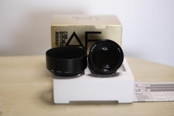Ai AF Nikkor 85mm f1.4D IF、元箱付き