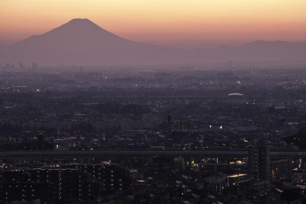 さいたま市から見た富士山