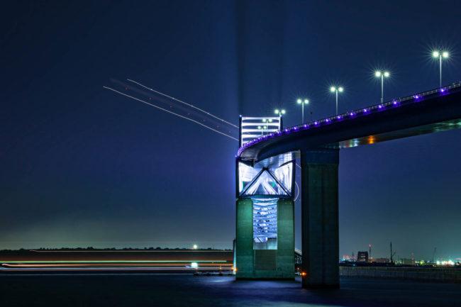 夜景、東京ゲートブリッジ