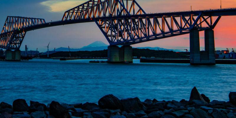 東京ゲートブリッジを撮影