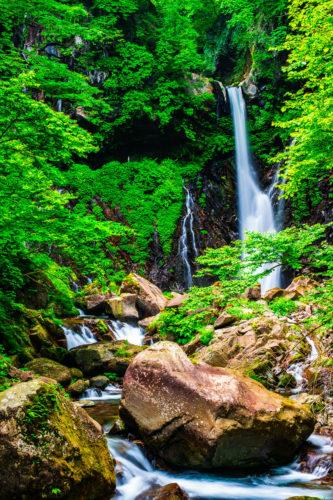 荒沢、裏見の滝の写真