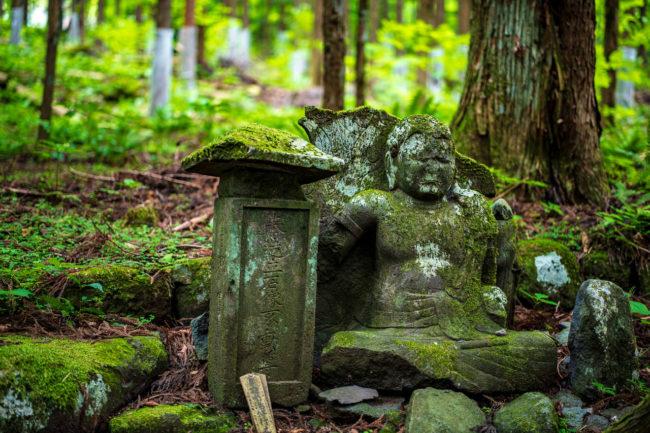 寂光の滝、石造