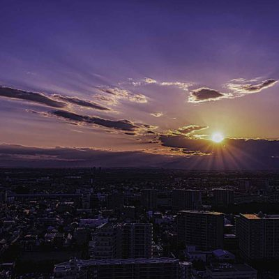夕暮れを美しく、映える写真にレタッチする。
