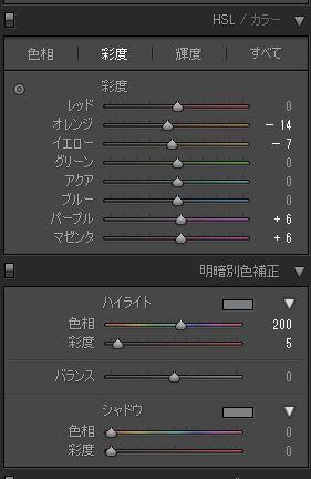Adobe,Lightroom,彩度,ハイライト補正