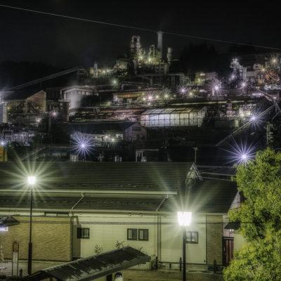 東邦亜鉛安中製錬所、安中駅正面から撮影