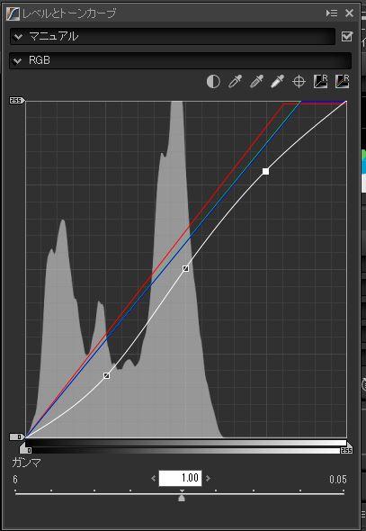 Capture NX-D、トーンカーブRGBを調整する