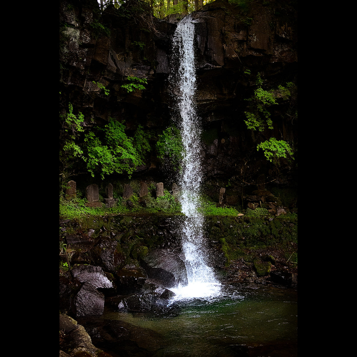通常のシャッター速度の写真、仙ケ滝